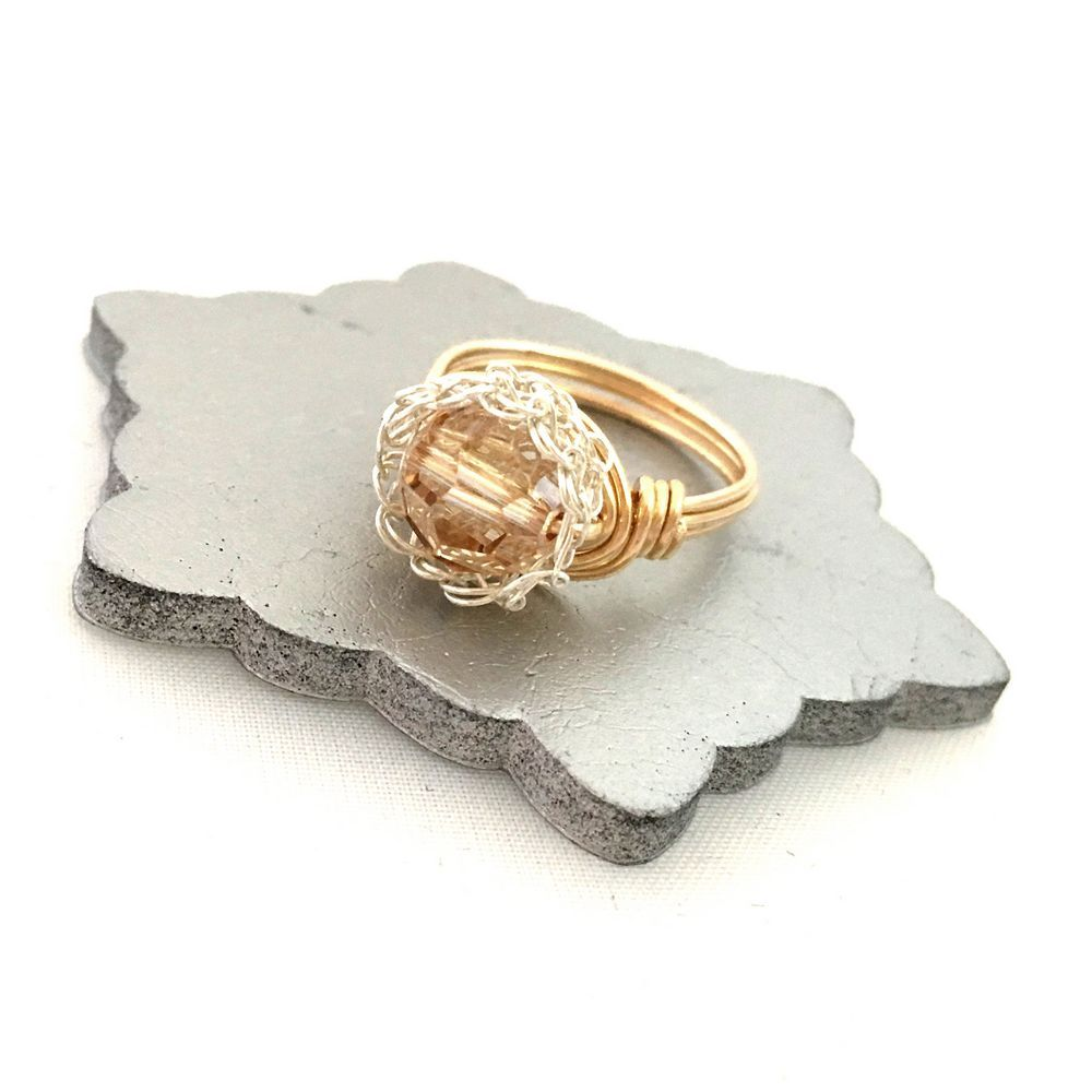 Golden Silver Case Ring