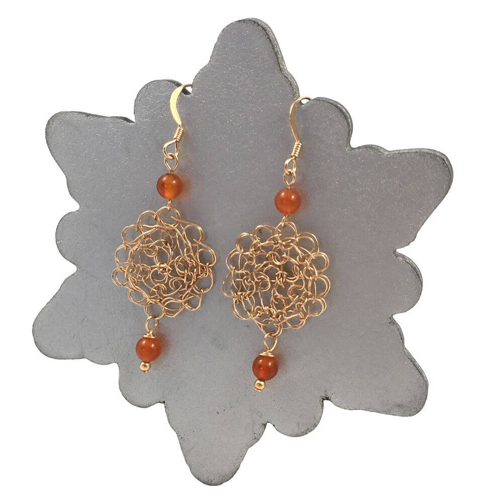 Carnelian Cosmo Earrings