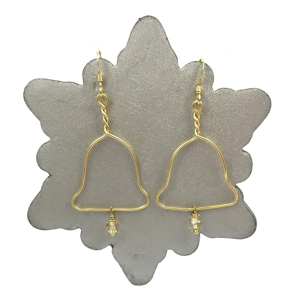 Gold Bell Earrings