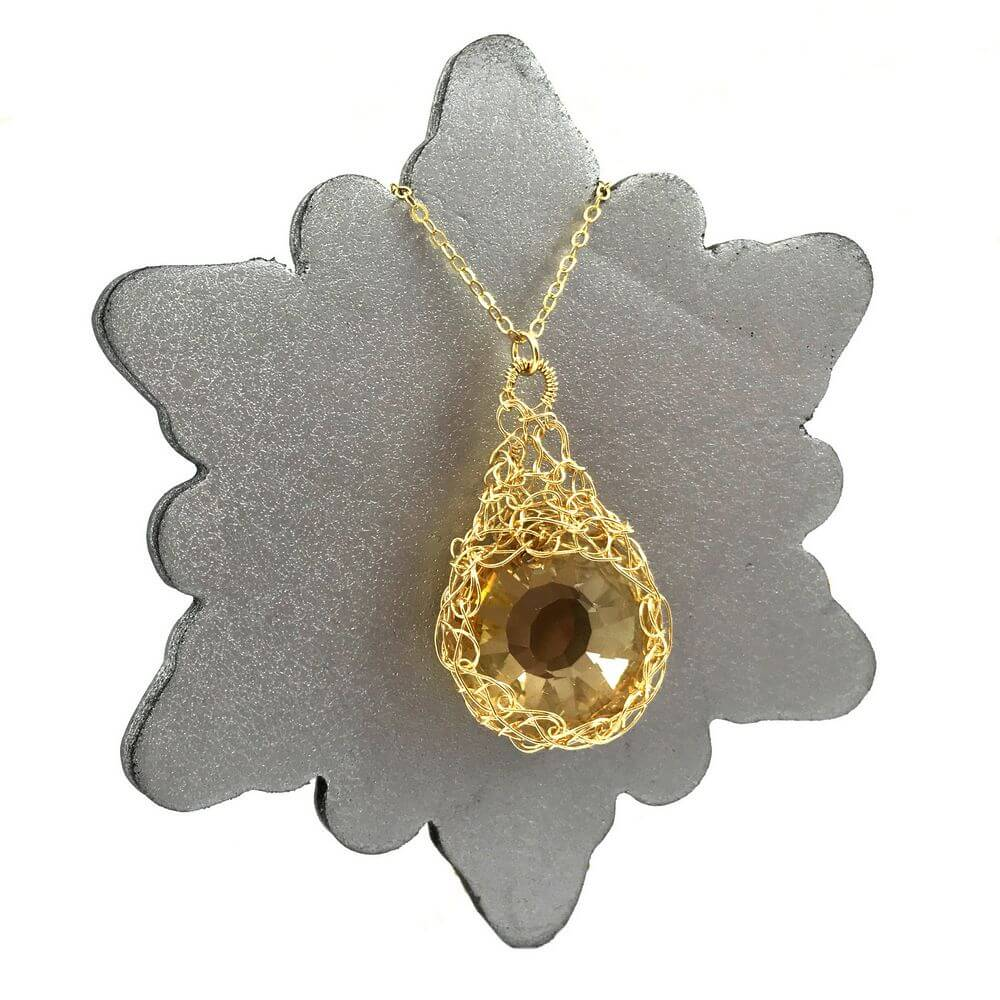 Gold Solar Necklace