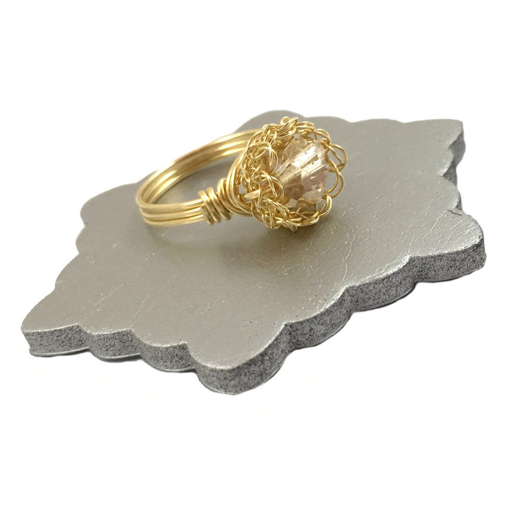 Gold Sparkle Case Ring