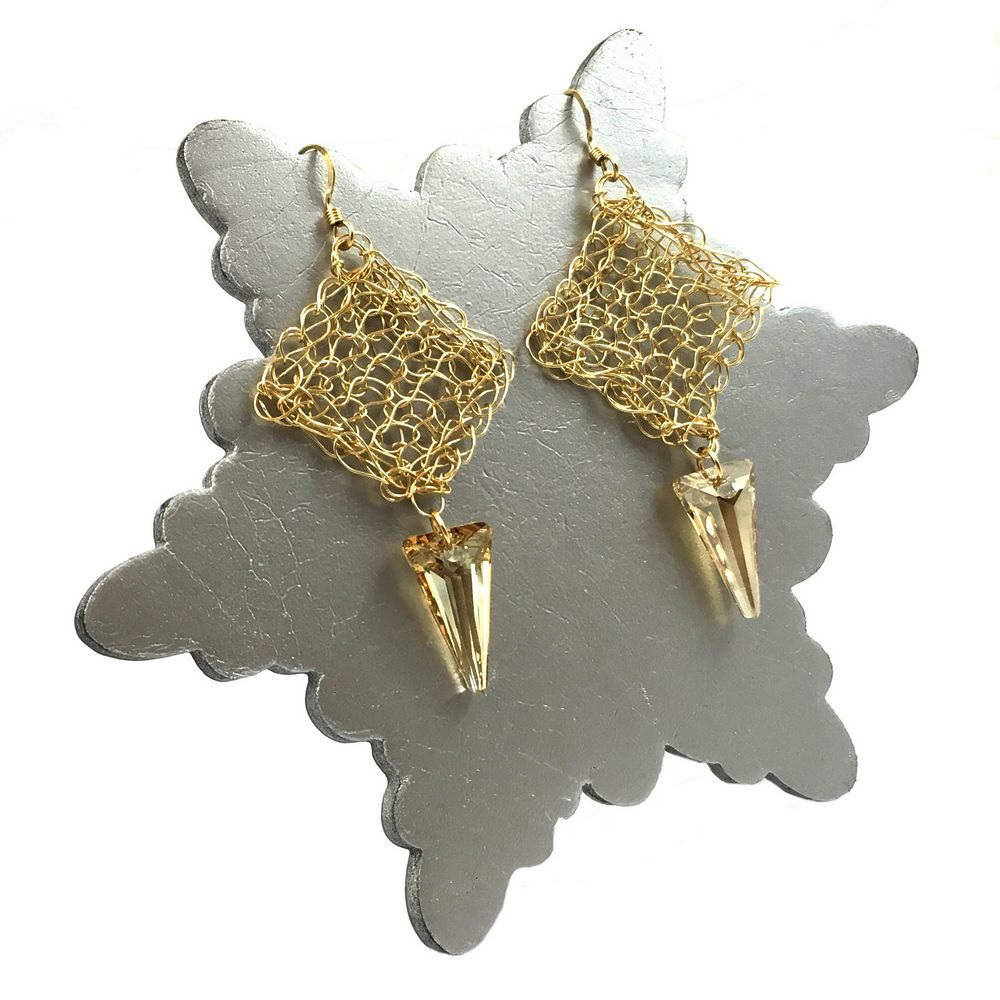 Gold Stiletto Earrings