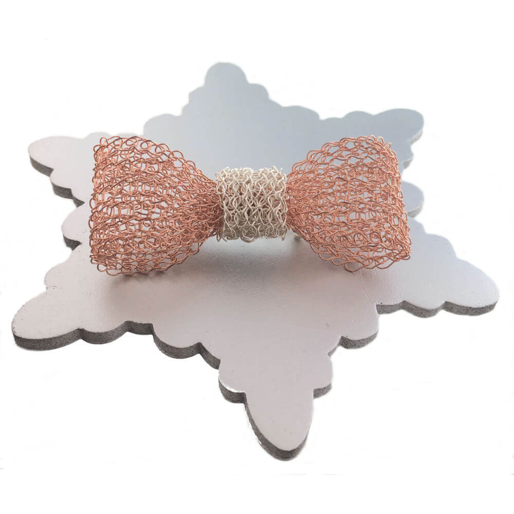 Rose Gold Bow Brooch