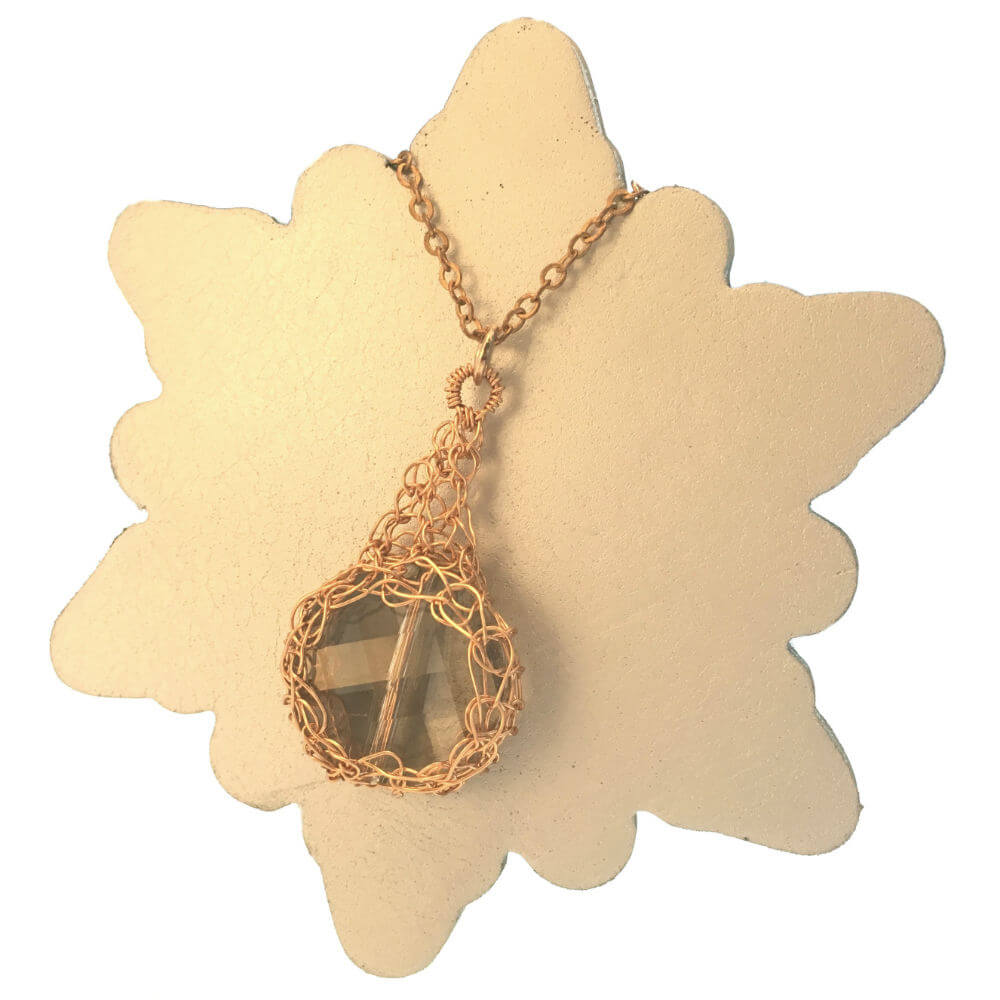 Rose Gold Crystal Necklace