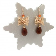 Carnelian Bow Earrings