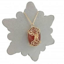 Carnelian Lattice Necklace