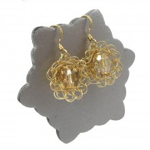 Gold LBD Flower Earrings