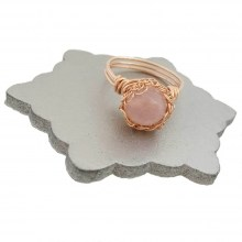 Rose Quartz Case Ring