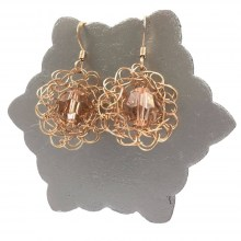 Rose Gold LBD Flower Earrings