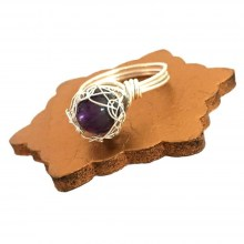 Silver Amethyst Case Ring