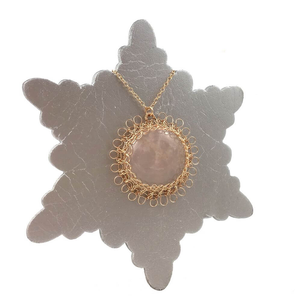 Rose Quartz Sun Necklace