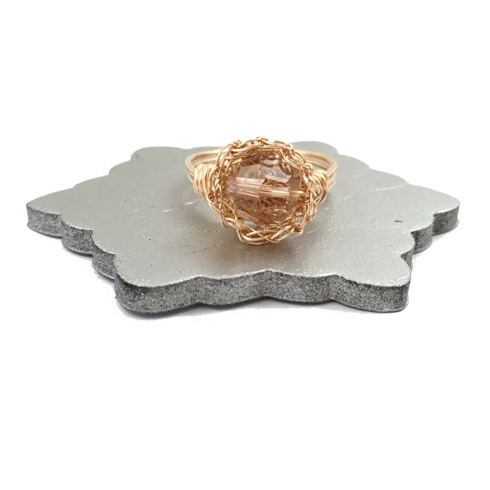 Rose Gold Sparkle Case Ring