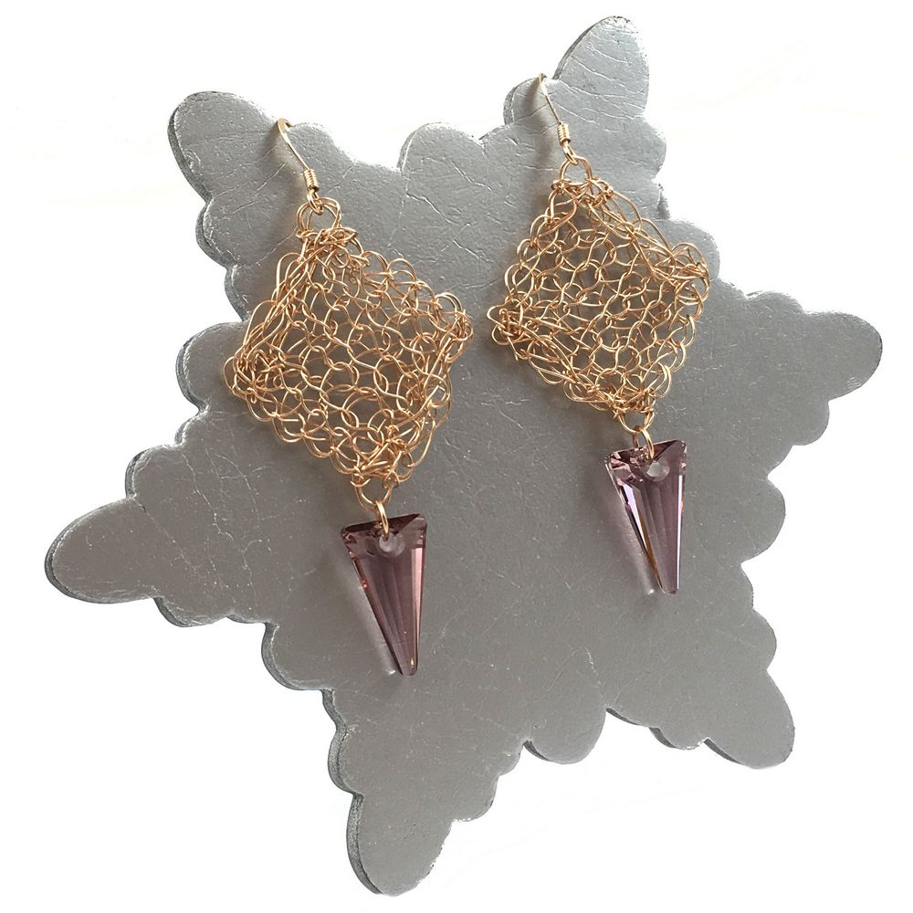 Rose Gold Stiletto Earrings